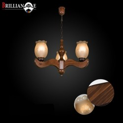 لوستر مهسا 3 شاخه بالا صنایع چوبی منجی