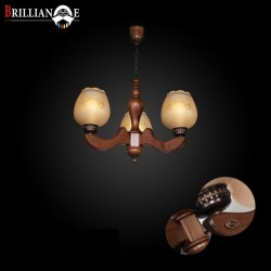 لوستر ملیکا 3 شاخه صنایع چوبی منجی