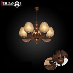 لوستر ملیکا 5 شاخه صنایع چوبی منجی