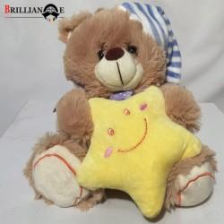 عروسک پوليشی كيدزلند JM239 خرس ماه و ستاره به دست كوچک
