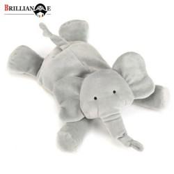 عروسک پوليشی كيدزلند كد JO162 فيل طوسی خوابيده متوسط
