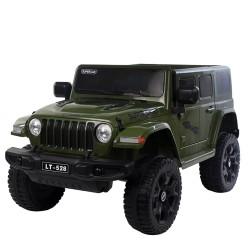 ماشین شارژِی جیپ سبز Jeep wrangler